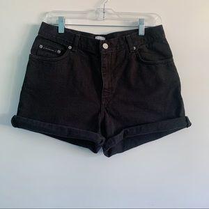 VTG Calvin Klein Women's Black Denim Short